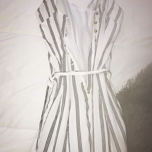 AMERICAN EAGLE STRIPPED JUMPSUIT